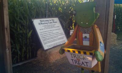 Petaluma Corn Maze Entrance