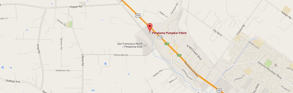 Directions Petaluma Pumpkin Patch