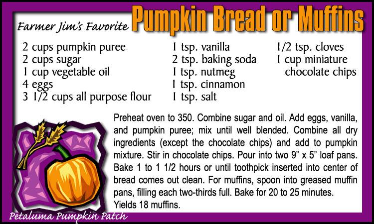 Petaluma Pumpkin Patch Pumpkin Bread