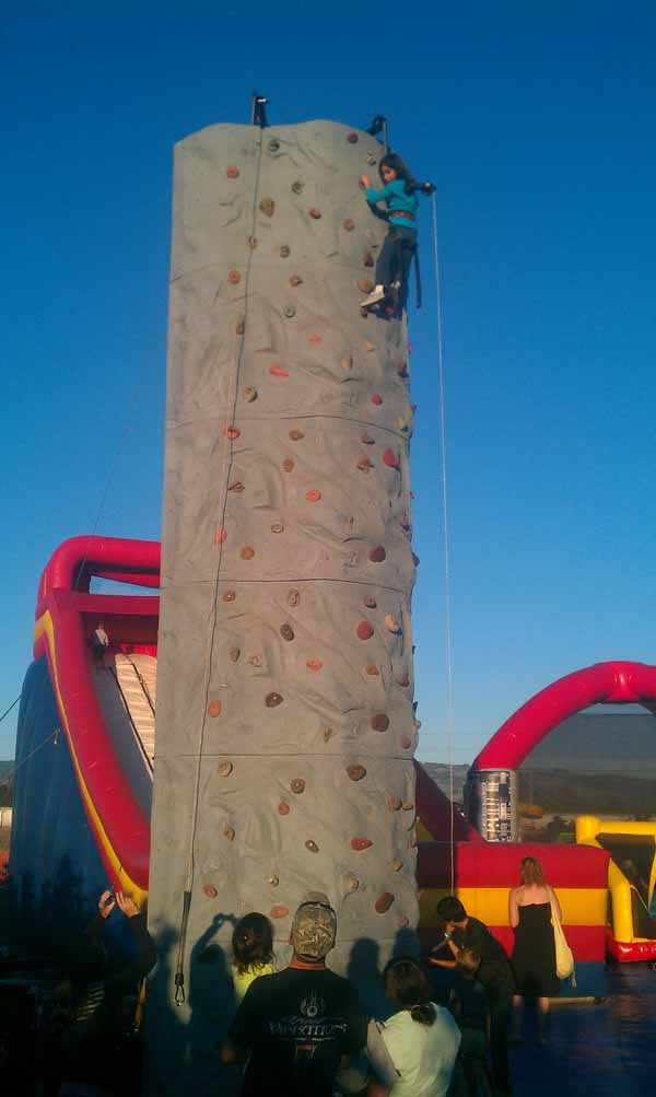Petaluma Pumpkin Patch Climbing Wall