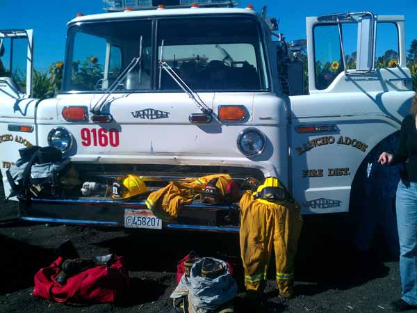 Petaluma Pumpkin Patch Fire Truck Visit